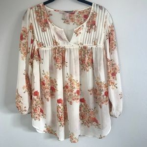 Forever 21 Contemporary Sheer Floral Top